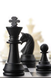The black chess king Royalty Free Stock Images