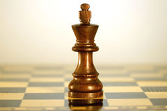 Black chess King. A game of chess comes to an end. when the king is checkmated, and the other party is victorious Stock Photography