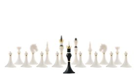Black chess king opposite to white ones Stock Image