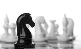Black chess knight Royalty Free Stock Photo