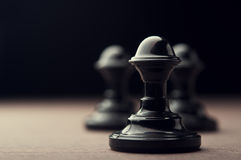 Black chess pawn Royalty Free Stock Photo