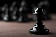 Black chess pawn Royalty Free Stock Photos