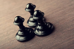 Black chess pawn Stock Image