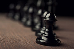 Black chess pawns Royalty Free Stock Image