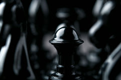 Black chess pawns Stock Photos