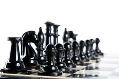Black chess pieces Stock Image