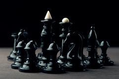 Black chess pieces Royalty Free Stock Images