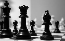 Black Chess Pieces Royalty Free Stock Photo