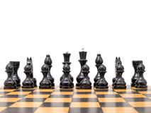 Black chess pieces on board Royalty Free Stock Photos