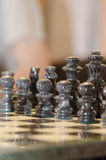Black chess pieces Royalty Free Stock Photography