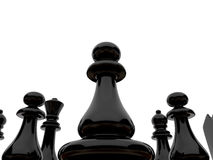 Black chessmen Royalty Free Stock Photos
