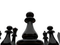 Black chessmen Royalty Free Stock Photos