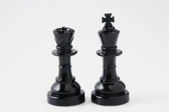 Black chessmen Royalty Free Stock Photography
