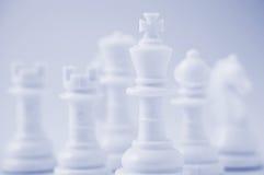 Black chessmen. Close-up photography Royalty Free Stock Photos