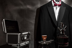 Black chest with hookah Royalty Free Stock Photos