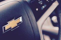 Black Chevrolet Steering Wheel Stock Photography