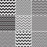 Black Chevron seamless patterns Stock Photos