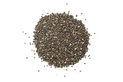 Black chia seeds from above Stock Photography