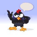 Black chick is speaking loudly Royalty Free Stock Photo