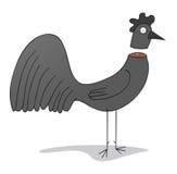 Black chicken Stock Image