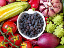 Black chickpea with vegetables Stock Image