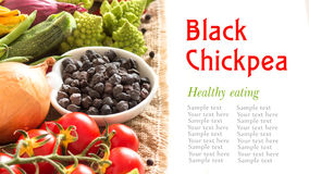 Black chickpea with vegetables Stock Photo