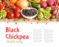 Black chickpea with vegetables Royalty Free Stock Photos