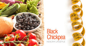Black chickpea with vegetables Royalty Free Stock Photo
