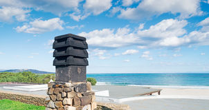 Black chimney Royalty Free Stock Images