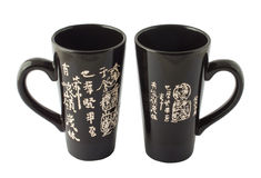 Black chinese cups for tea Stock Photography