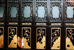 Black chinese style door Royalty Free Stock Photos