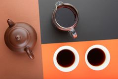 Black Chinese Tea Puer studio. Quality Royalty Free Stock Photos