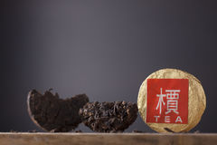 Black Chinese tea puer Stock Images