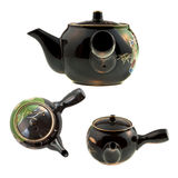 Black Chinese teapot Royalty Free Stock Photos