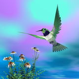 Black-chinned hummingbird - 3D render Royalty Free Stock Photography