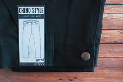 Black Chino style school trouser Stock Image