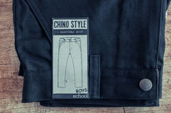 Black Chino style school trouser Royalty Free Stock Photos