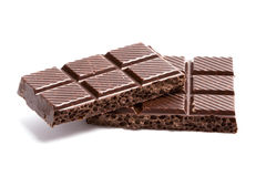 Black chocolate blocks Stock Images