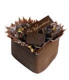 Black chocolate cake Stock Photos