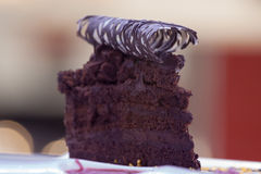 Black chocolate cake Stock Photo