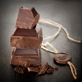 Black Chocolate with a wax seal Stock Photo