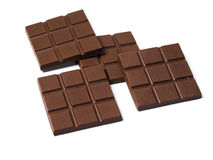 Black Chocolates bars. On white isolated background Royalty Free Stock Image