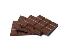 Black Chocolates bars. On white isolated background Royalty Free Stock Photography