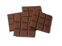 Black Chocolates bars. On white isolated background Stock Photography