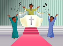 Black choir singing Royalty Free Stock Images