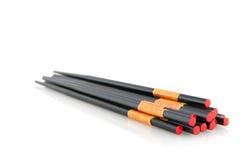 Black chop sticks Royalty Free Stock Photo