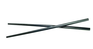 Black chop sticks isolated Royalty Free Stock Image