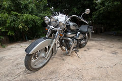 Black Chopper. Honda Phantom Chopper 200 c.c. motocycle Royalty Free Stock Photos