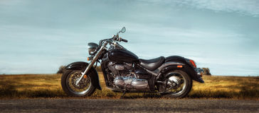 Black chopper on the roadside Stock Photography