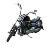 Black chopper. On white background Royalty Free Stock Photography